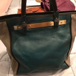 Claudia Firenze full grain leather tote bag